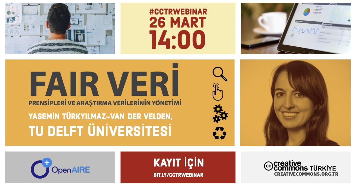 #CCTRwebinar: FAIR Veri Prensipleri ve Araştırma Verilerinin Yönetimi
